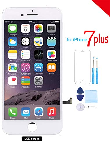 (Coobetter for iPhone 7 Plus Screen Replacement (5.5) LCD 3D Touch Screen Digitizer Display with Free Repair Tool Kits + Free Screen Protector (White))