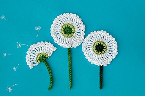 Amazon.com: dandelion flowers crochet applique white crochet motif