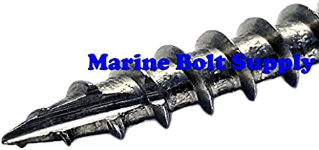 Select Length /& Quantity in Listing #17 Wood Cutting Point #8 x 1-1//4 Pack of 100pcs - Marine Bolt Supply #8 Stainless Steel Square Drive Bugle Deck Screws