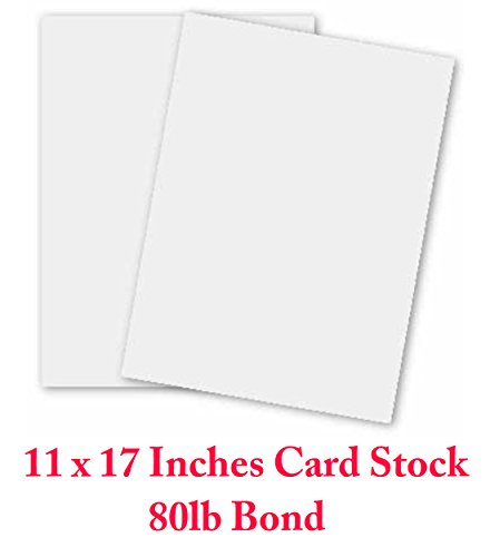 11x17 Cardstock Paper (White Card Stock - 11 X 17 in 80 Lb. Cover Smooth (218gsm) - 50 Sheets by Superfine Printing Inc.)