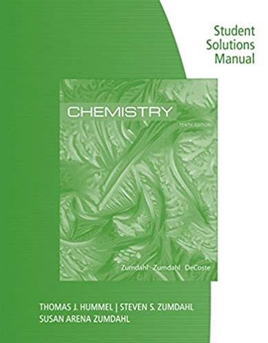 Zumdahl solutions manual array student solutions manual for zumdahl zumdahl decoste u0027s chemistry rh amazon com fandeluxe Choice Image