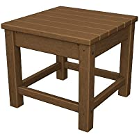 POLYWOOD CLT1818TE Club 18 Side Table, Teak