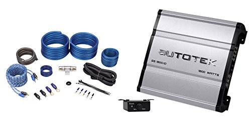 Autotek SS1800.1D Super Sport 1800w Mono Car Amplifier Class D+Remote+Amp Kit
