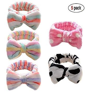 Flannel Headband Spa Bath Hairband Shower Makeup Bowknot Wrap Turban Accessories