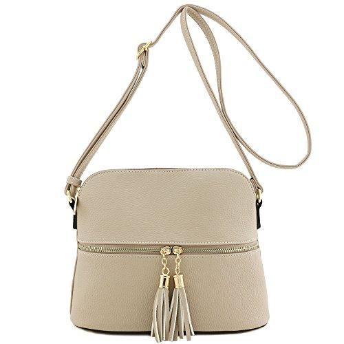 (Tassel Zipper Pocket Crossbody Bag)