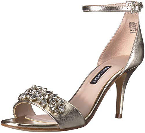 Nine West Women's Intimate Sandal, Light Gold, 8 M US