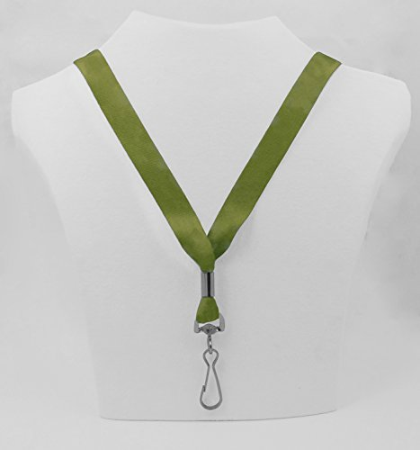 Ultra Soft Solid Color Lanyard for Keys or ID Earthtone Green Olive