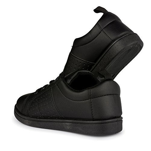 All Black School Shoes - 4