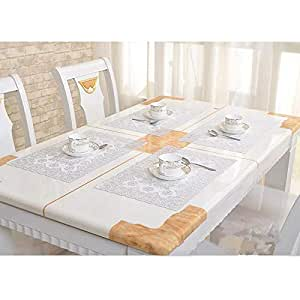 4 pcs Pvc,gilding tablecloth/tea table mats/oil-proof, burn-proof, european-style tablecloths/rectangular table mat/place mat 30 x 45 cm