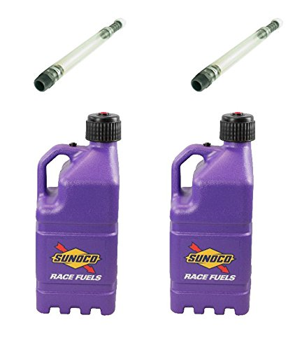 2-pack-sunoco-5-gallon-purple-race-utility-jugs-and-2-deluxe-filler-hoses