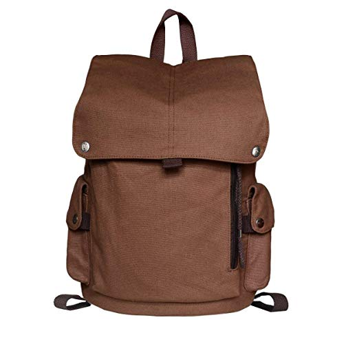 YEXIN Professional Laptop Backpack with USB Charging Port, Fashion Travel Bag Vintage Business Work Computer Rucksack College School Casual Daypack for Women Men Girls (Color : Brown) from YEXIN