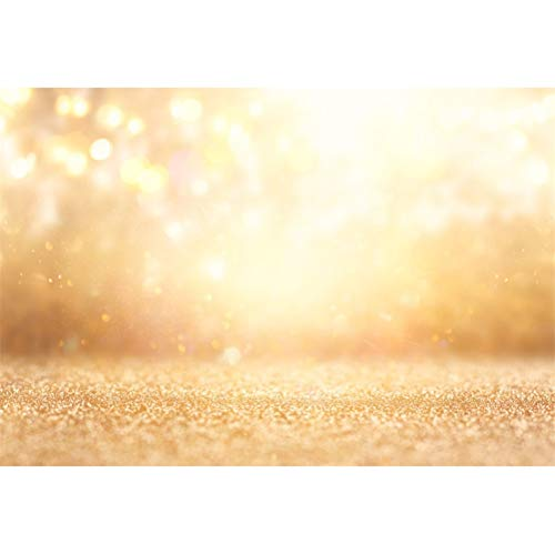 (Laeacco 8x6.5ft Dreamlike Shimmering Golden Glitter Bokeh Haloes Backdrop Vinyl Valentine's Day Photography Background Adult Girls Portrait Shoot Festival Celebration Wallpaper Studio Props)