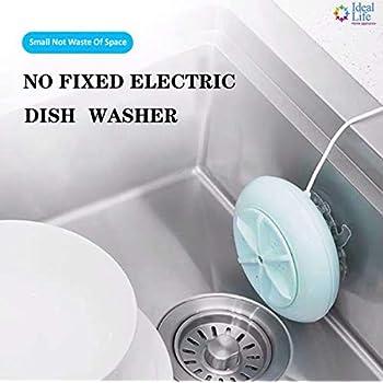 LFJNET Mini USB Portable Dishwasher for Fruit Vegetable Dish Washing Sapphire blue