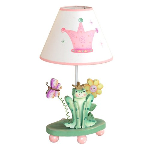 Fantasy Fields - Princess & Frog Thematic Kids Table Lamp | Imagination Inspiring Hand Painted Details Non-Toxic, Lead Free Water-based Paint
