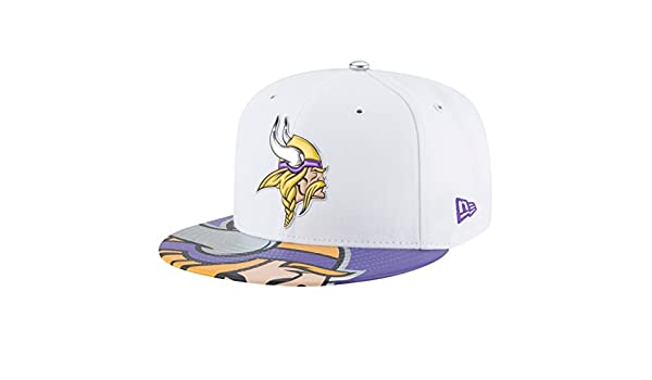 New Era Minnesota Vikings 2017 NFL 59 FIFTY Fitted Cap Blanco blanco   Amazon.es  Ropa y accesorios 63fe5a6bf9c