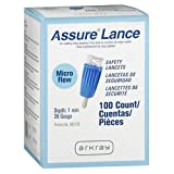 Assure Lance Micro Flow Safely Lancets - 100 Count, Pack of 2