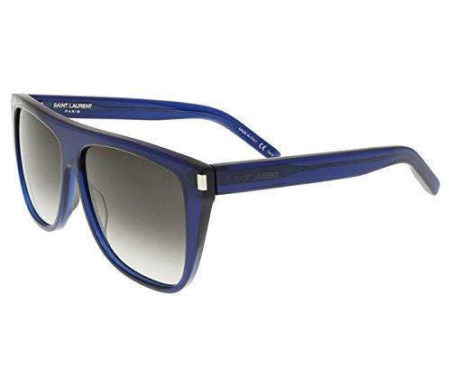 Saint Laurent SL1 005 Blue/Silver Fashion Sunglasses - Sl1 Laurent Saint Sunglasses