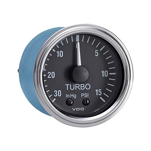 Vdo Instruments Semi Truck Mechanical Turbo and Boost Gauge with Optional Kit Series 1