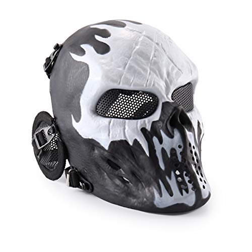 Wwman Full Face Skull Airsoft Mask Tactical Paintball CS Protective Gear...