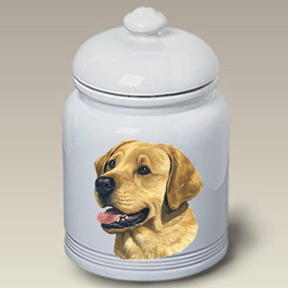 (Best of Breed Yellow Labrador - Linda Picken Treat Jar )