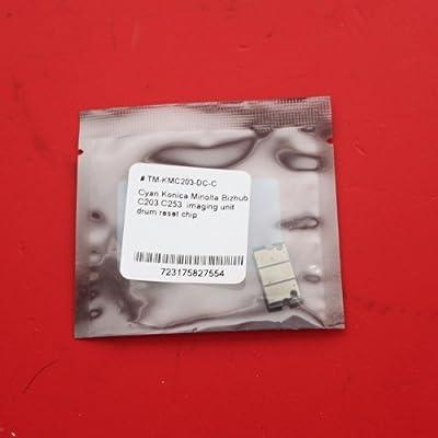 TM-toner © Konica Minolta Bizhub IU211C, IU-211C C203 C253 Cyan imaging unit drum reset chip