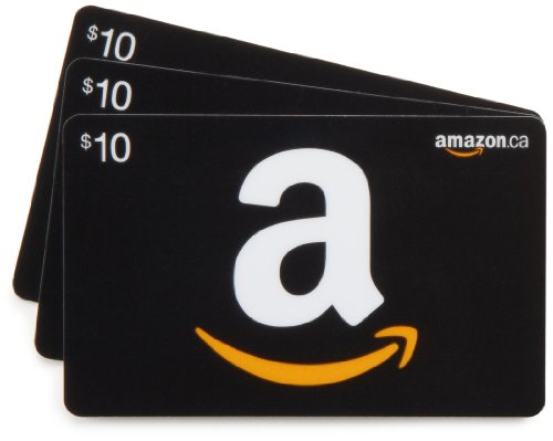 Amazon.ca $10 Gift Cards, Pack of 3 (Classic Black Card Design)