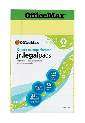 OfficeMax Recycled Perforated Pad, 5