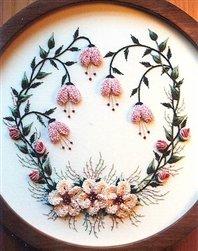 Brazilian Embroidery Design - Frosty Christmas Rose - DK Designs Brazilian Embroidery pattern & fabric #3822