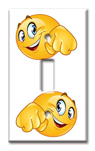 Fist Bump Emoji Light Switch Plate