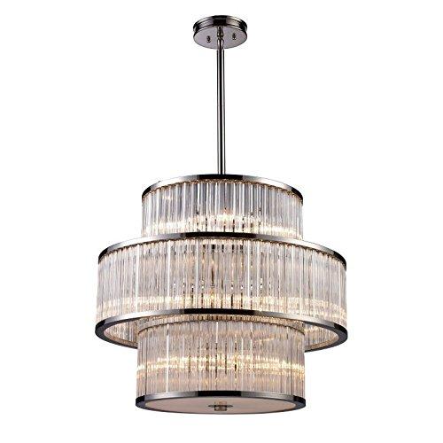 (ELK Lighting Braxton 15-Light Pendant, Polished Nickel)