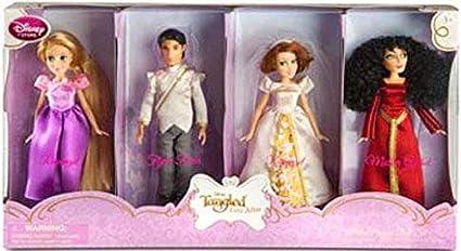 Amazon Com Disney Tangled Ever After Exclusive Mini Princess Doll Set Rapunzel Flynn Ri Toys Games
