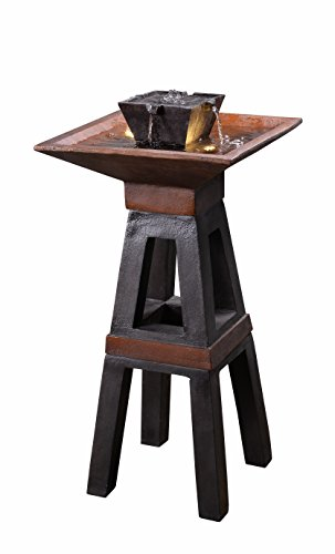 - Kenroy Home 51024COPBRZ Kyoto Indoor/Outdoor Floor Fountain with Light, Copper