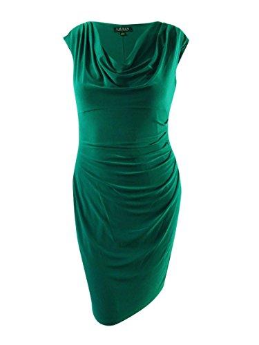 LAUREN RALPH LAUREN Womens Sleeveless Knee-Length Party Dress Green 14