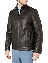Men's Smooth Lamb Leather Stand Collar Jacket