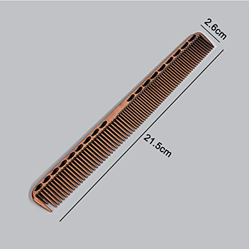 Pro Stainless Steel Anti-static Comb Hairdressing Hair Salon Barber Cutting Tool (Colors - #S909 Red (Big))