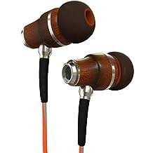 Symphonized NRG 3.0 Premium Wood In-ear Noise-isolating Headphones|Earbuds|Earphones with Mic & Volume Control (Fiery Orange & Hazy Gray)