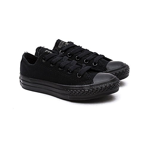 Converse Trainers - Converse Chuck Taylor All Star Youth Classic Ox Canvas Trainers - Black Monochrome