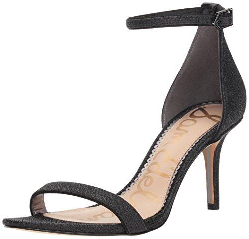 Sam Edelman Women's Patti Heeled Sandal, Black Glam mesh, 9 M US - Stiletto Designer Shoes