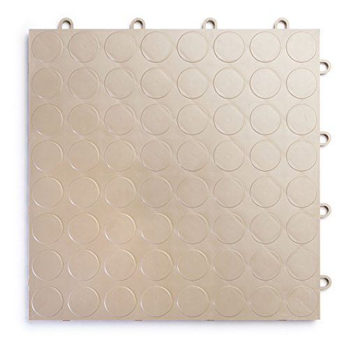 RaceDeck CircleTrac, Durable Interlocking Modular Garage Flooring Tile (12 Pack), Beige by RaceDeck