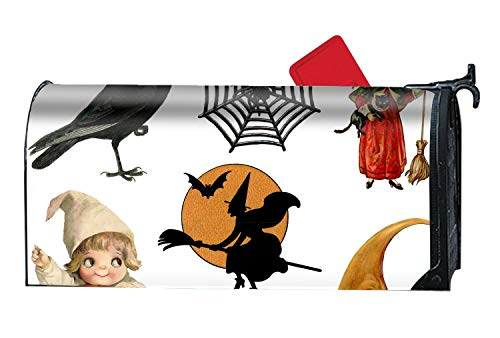 DHDFHDF Halloween Greeting Mailbox Makeover - Magnetic PVC Mailbox Cover