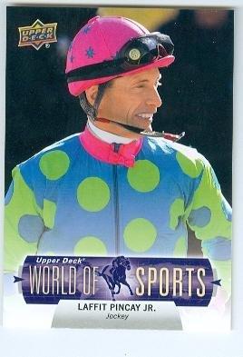 Laffit Pincay Jr trading card (Horse Jockey Kentucky Derby Champion) 2011 Upper Deck #295 World of Sports
