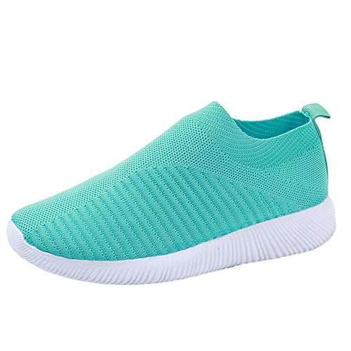 LIM&Shop ❤ Women Mesh Slip-On Casual Walking Breathable Work Out Sneakers Men Walking Shoes Spors Shoes Lightweight Green