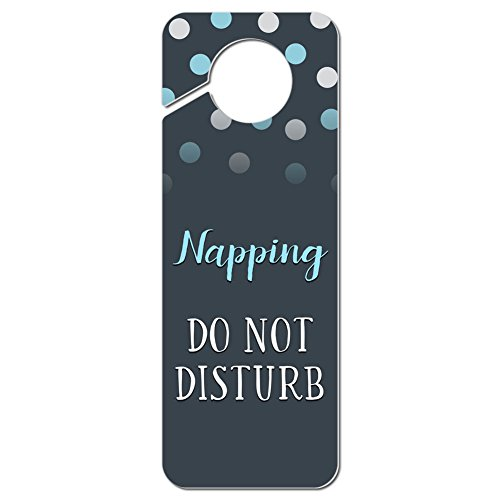 Graphics and More Napping Do Not Disturb Plastic Door Knob Hanger Sign ()