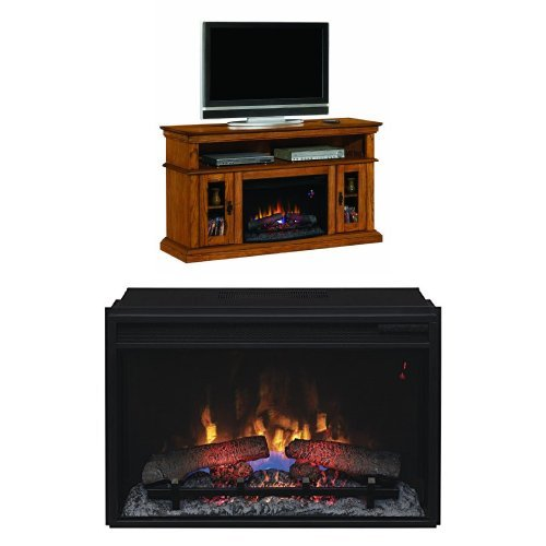 Complete Set Brookfield Media Mantel in Premium Oak with 26