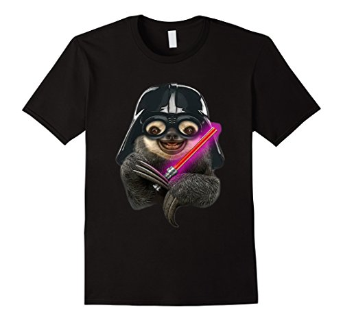 Men's Darth Sloth Funny T Shirt Small Black