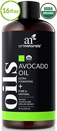 ArtNaturals USDA Organic Avocado Oil - (16 Fl Oz / 473ml) - Massage Oil & Moisturizer - 100% Pure Expeller Pressed and Hexane Free- for Hair, and Skin - Treatment for Age Spots Dry Skin and Scars