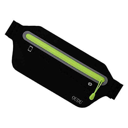 ThisReallycute Running Fitness Waist, Adjustable Waist Size, Waterproof, Suitable All Kinds Mobile Phones iPhone Mobile Phone Android. Black