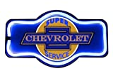 Chevrolet Super Service LED Sign, 16 Tie Shaped Sign, LED Light Rope That Looks Like Neon, Wall Decor for Man Cave, Garage, Bar