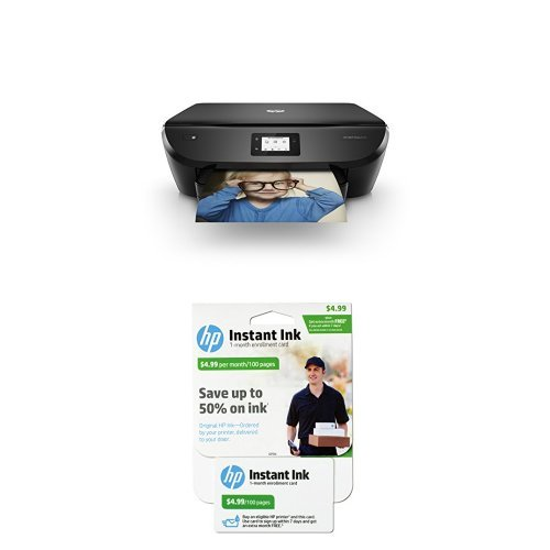 HP ENVY Photo 6255 and HP Instant Ink, 1st month Enrollment Card, 100 page plan bundle