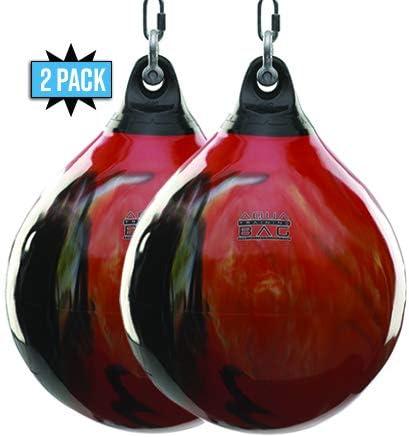 FireballオレンジAquaトレーニングバッグ18インチまたは21インチHeavy Punching Bags ( 2 Pack )  21\